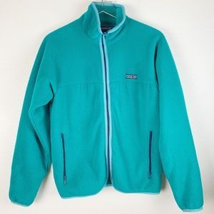 Vintage Patagonia Teal Full Zipper Front Fleece